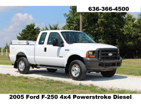Oxford White Ford F250 Super Duty XL SuperCab 4x4.  Click to enlarge.