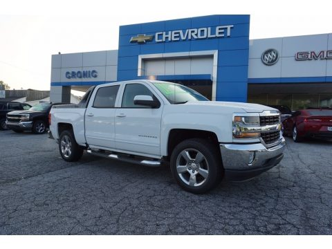 Summit White Chevrolet Silverado 1500 LT Crew Cab.  Click to enlarge.
