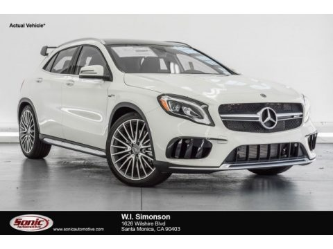 Cirrus White Mercedes-Benz GLA AMG 45 4Matic.  Click to enlarge.