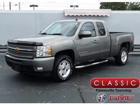 Graystone Metallic Chevrolet Silverado 1500 LTZ Extended Cab 4x4.  Click to enlarge.