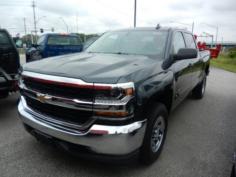 Graphite Metallic Chevrolet Silverado 1500 WT Crew Cab 4x4.  Click to enlarge.