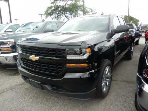 Black Chevrolet Silverado 1500 Custom Double Cab 4x4.  Click to enlarge.