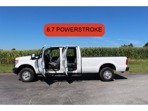 Oxford White Ford F250 Super Duty XL Crew Cab 4x4.  Click to enlarge.