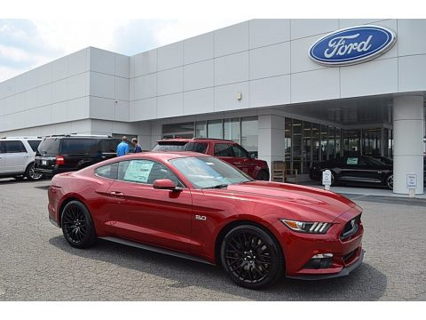 Ruby Red Ford Mustang GT Premium Coupe.  Click to enlarge.