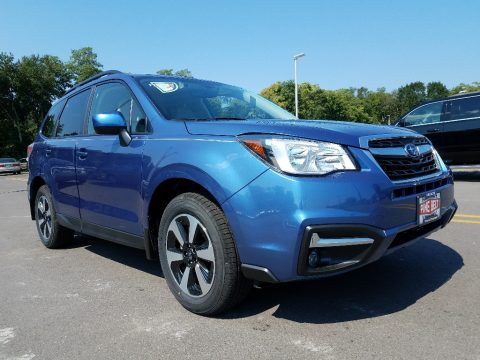 Quartz Blue Pearl Subaru Forester 2.5i Premium.  Click to enlarge.