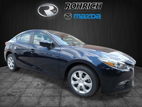 Deep Crystal Blue Mica Mazda MAZDA3 Sport 4 Door.  Click to enlarge.
