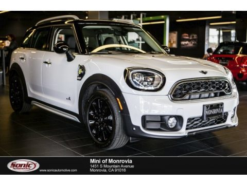 Light White Mini Countryman Cooper S E ALL4 Hybrid.  Click to enlarge.