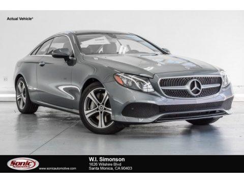 Selenite Grey Metallic Mercedes-Benz E 400 Coupe.  Click to enlarge.
