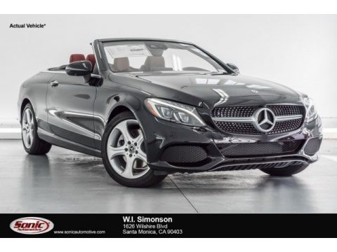 Obsidian Black Metallic Mercedes-Benz C 300 Cabriolet.  Click to enlarge.