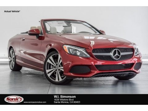 designo Cardinal Red Metallic Mercedes-Benz C 300 Cabriolet.  Click to enlarge.