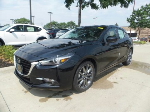 Jet Black Mica Mazda MAZDA3 Grand Touring 5 Door.  Click to enlarge.