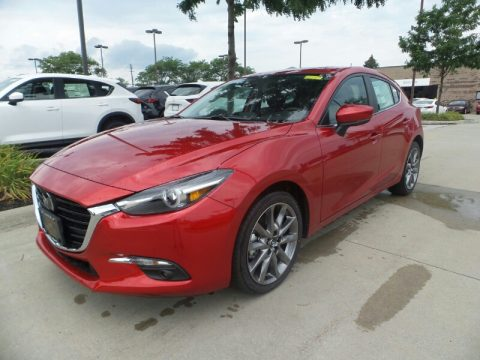 Soul Red Metallic Mazda MAZDA3 Grand Touring 5 Door.  Click to enlarge.