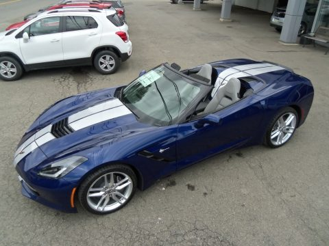 Admiral Blue Metallic Chevrolet Corvette Stingray Convertible.  Click to enlarge.