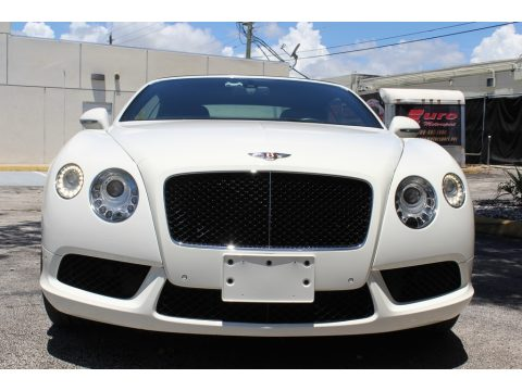 Glacier White Bentley Continental GTC V8 .  Click to enlarge.