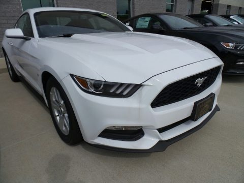 Oxford White Ford Mustang V6 Coupe.  Click to enlarge.