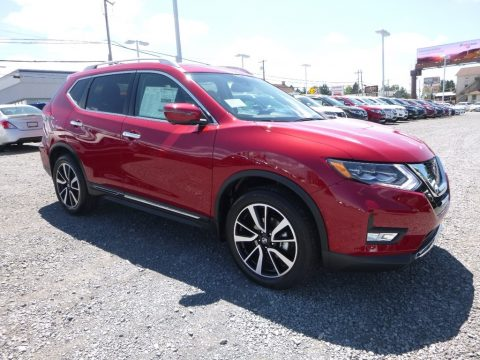 Palatial Ruby Nissan Rogue SL AWD.  Click to enlarge.