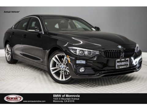 Jet Black BMW 4 Series 430i Gran Coupe.  Click to enlarge.