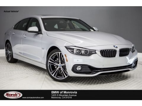 Glacier Silver Metallic BMW 4 Series 430i Gran Coupe.  Click to enlarge.