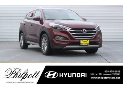 Ruby Wine Hyundai Tucson Eco.  Click to enlarge.