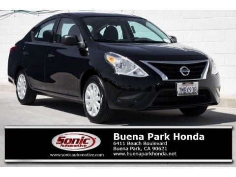 Super Black Nissan Versa 1.6 S Sedan.  Click to enlarge.