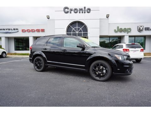 Pitch Black Dodge Journey SXT.  Click to enlarge.
