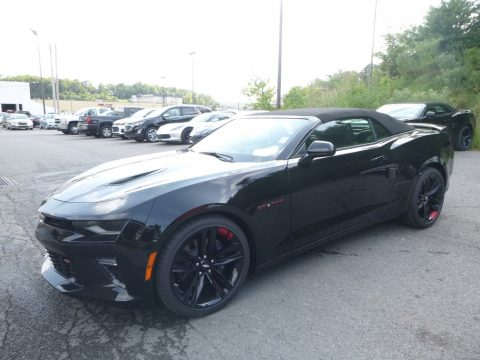 Black Chevrolet Camaro SS Convertible.  Click to enlarge.