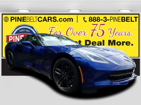 Admiral Blue Chevrolet Corvette Stingray Coupe.  Click to enlarge.
