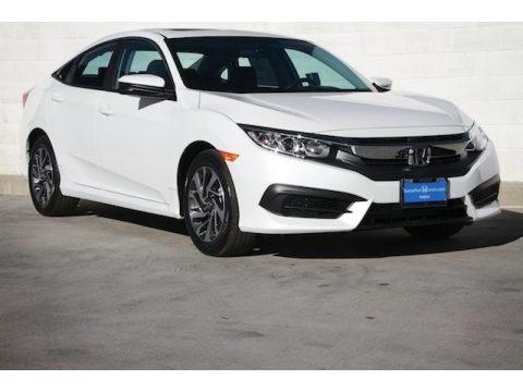 White Orchid Pearl Honda Civic EX Sedan.  Click to enlarge.