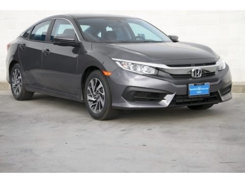 Modern Steel Metallic Honda Civic EX Sedan.  Click to enlarge.