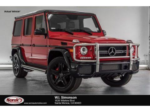 designo Manufaktur Magma Red Mercedes-Benz G 63 AMG.  Click to enlarge.