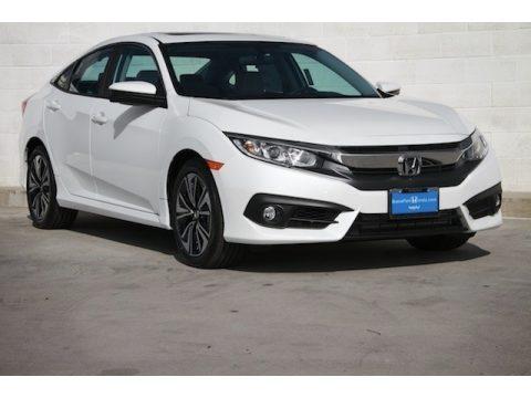 White Orchid Pearl Honda Civic EX-T Sedan.  Click to enlarge.