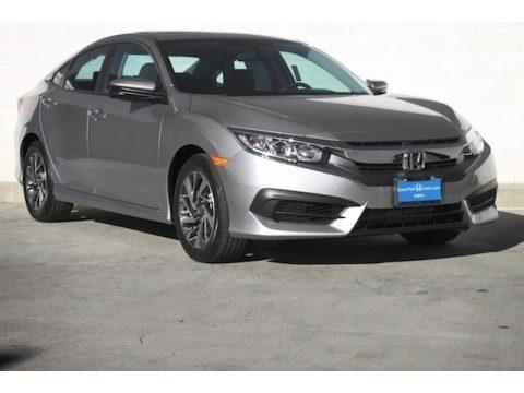 Lunar Silver Metallic Honda Civic EX Sedan.  Click to enlarge.