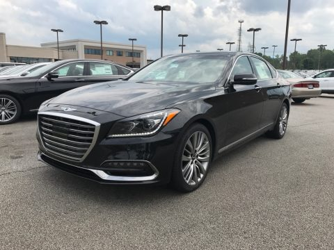 Victoria Black Hyundai Genesis G80 5.0 AWD.  Click to enlarge.