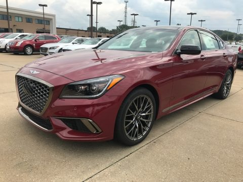 Sevilla Red Hyundai Genesis G80 Sport.  Click to enlarge.