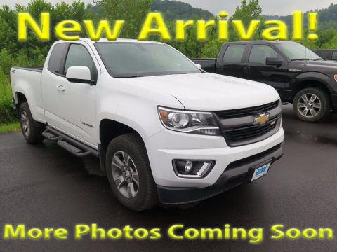 Summit White Chevrolet Colorado Z71 Extended Cab 4x4.  Click to enlarge.