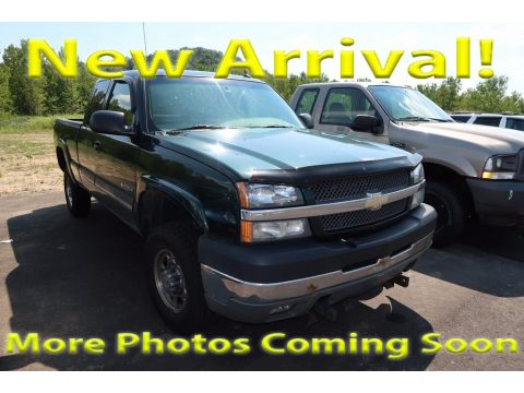 Dark Green Metallic Chevrolet Silverado 2500HD LT Extended Cab 4x4.  Click to enlarge.