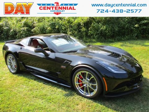 Black Chevrolet Corvette Grand Sport Coupe.  Click to enlarge.
