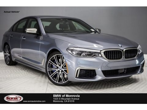Bluestone Metallic BMW 5 Series M550i xDrive Sedan.  Click to enlarge.