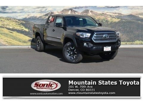 Black Toyota Tacoma TRD Off Road Double Cab 4x4.  Click to enlarge.
