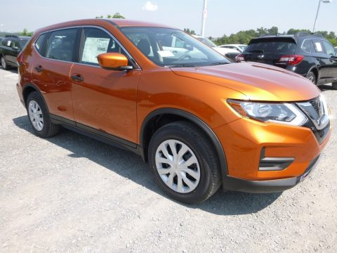 Monarch Orange Nissan Rogue S AWD.  Click to enlarge.