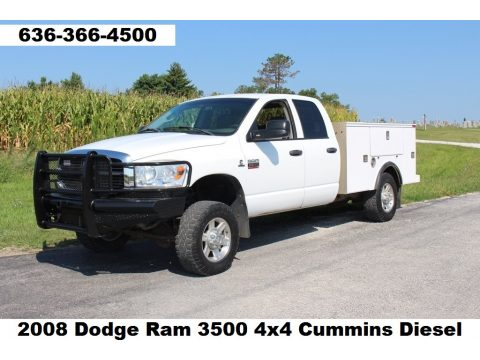 Bright White Dodge Ram 3500 SLT Quad Cab 4x4.  Click to enlarge.