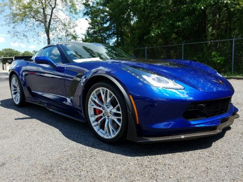 Admiral Blue Chevrolet Corvette Z06 Coupe.  Click to enlarge.