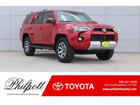 Barcelona Red Metallic Toyota 4Runner TRD Off-Road Premium 4x4.  Click to enlarge.
