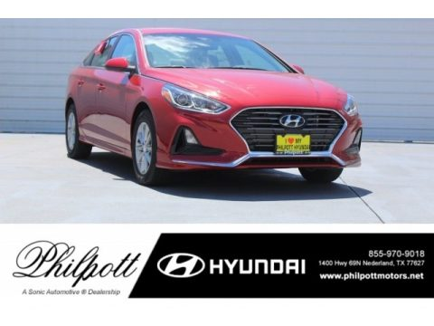 Scarlet Red Hyundai Sonata SE.  Click to enlarge.