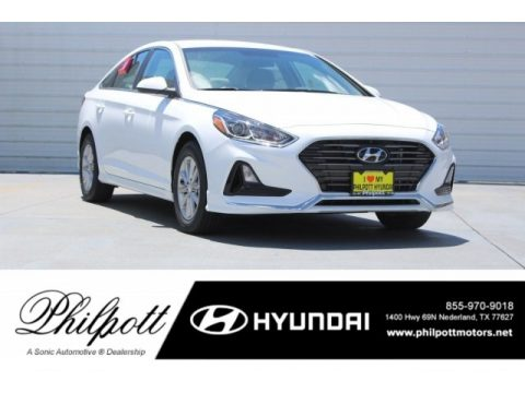 Quartz White Pearl Hyundai Sonata SE.  Click to enlarge.