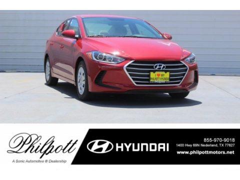 Scarlet Red Hyundai Elantra SE.  Click to enlarge.