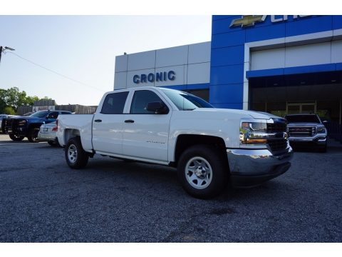 Summit White Chevrolet Silverado 1500 WT Crew Cab.  Click to enlarge.