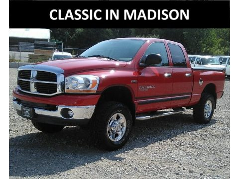 Flame Red Dodge Ram 2500 Big Horn Edition Quad Cab 4x4.  Click to enlarge.