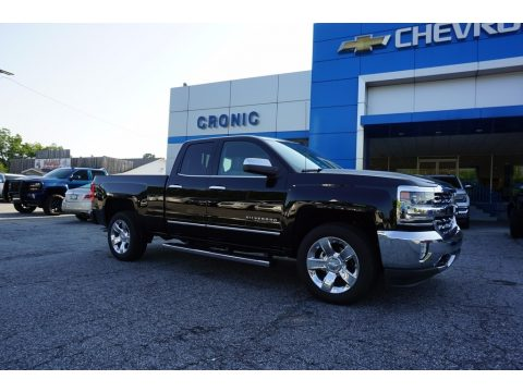Black Chevrolet Silverado 1500 LTZ Double Cab.  Click to enlarge.