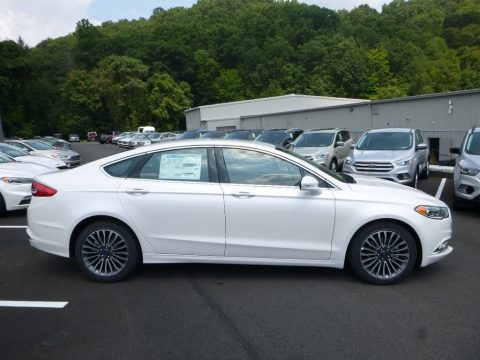 White Platinum Ford Fusion SE.  Click to enlarge.